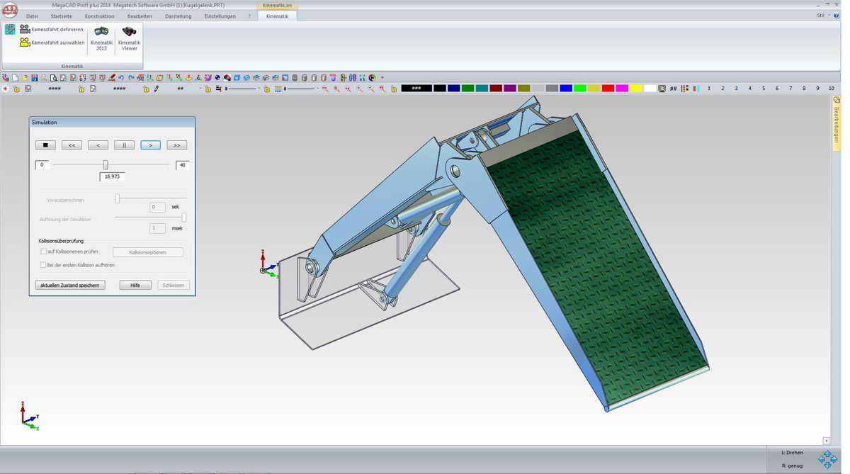 Verbindungen direkt in MegaCAD erstellen und editieren